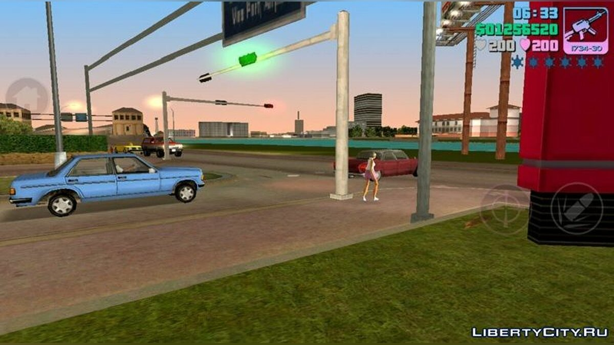 CLEO script Increased traffic for GTA Vice City (iOS, Android)