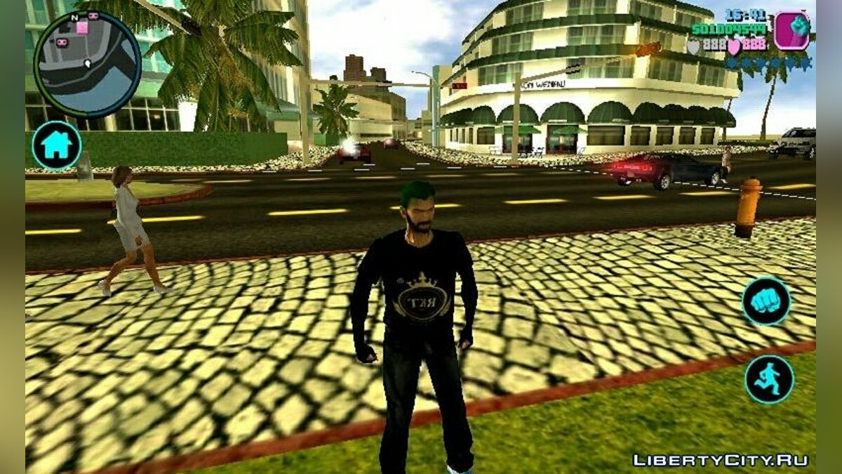 Texture mod HD textures for roads and sidewalks for GTA Vice City (iOS, Android)