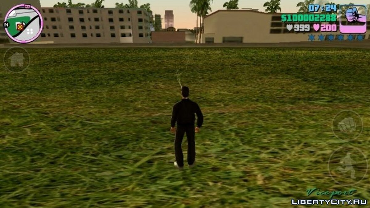 Texture mod New textures for grass, sand and water for GTA Vice City (iOS, Android)
