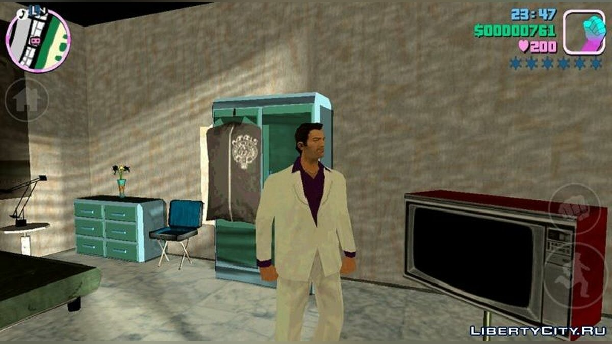 Texture mod Lance Vance costume for Tommy for GTA Vice City (iOS, Android)