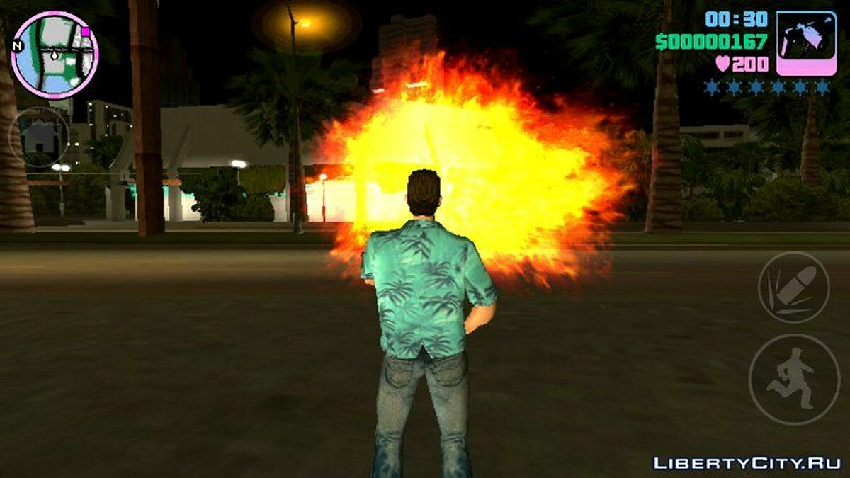 Texture mod New fire effects for GTA Vice City (iOS, Android)