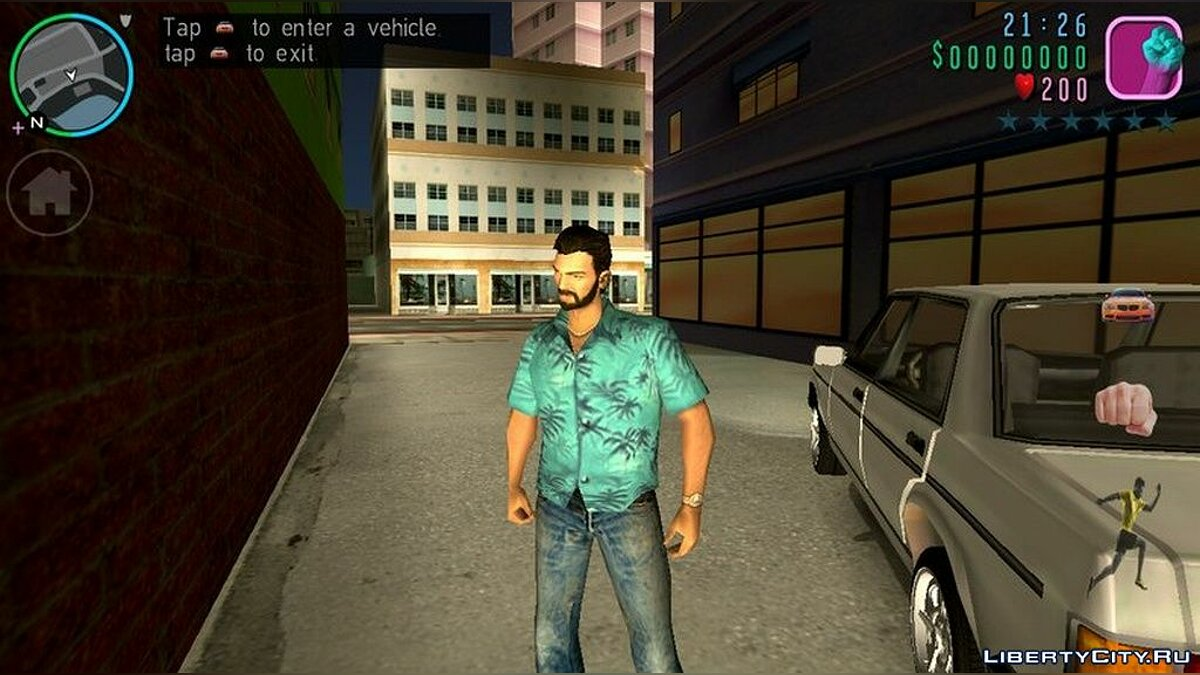 Texture mod New costumes for Tommy and beard for GTA Vice City (iOS, Android)