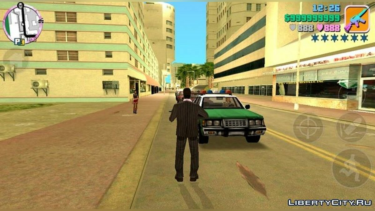 Texture mod New icons on the radar and weapons for GTA Vice City (iOS, Android)