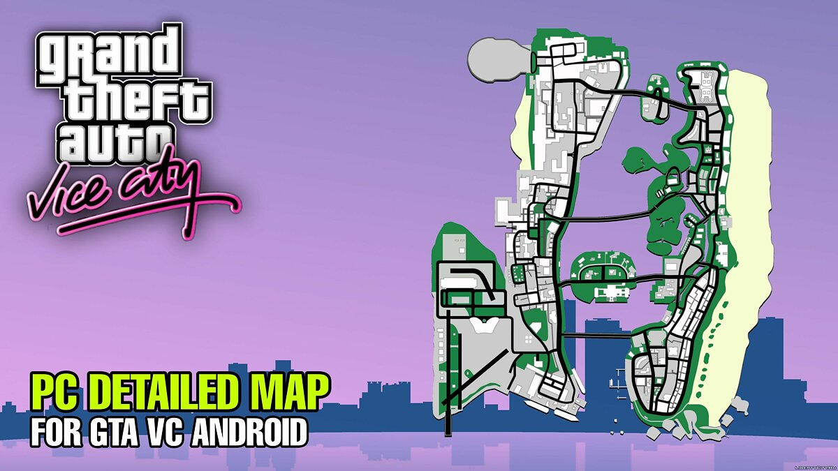 Texture mod PC Detailed Radar-Map for Android for GTA Vice City (iOS, Android)