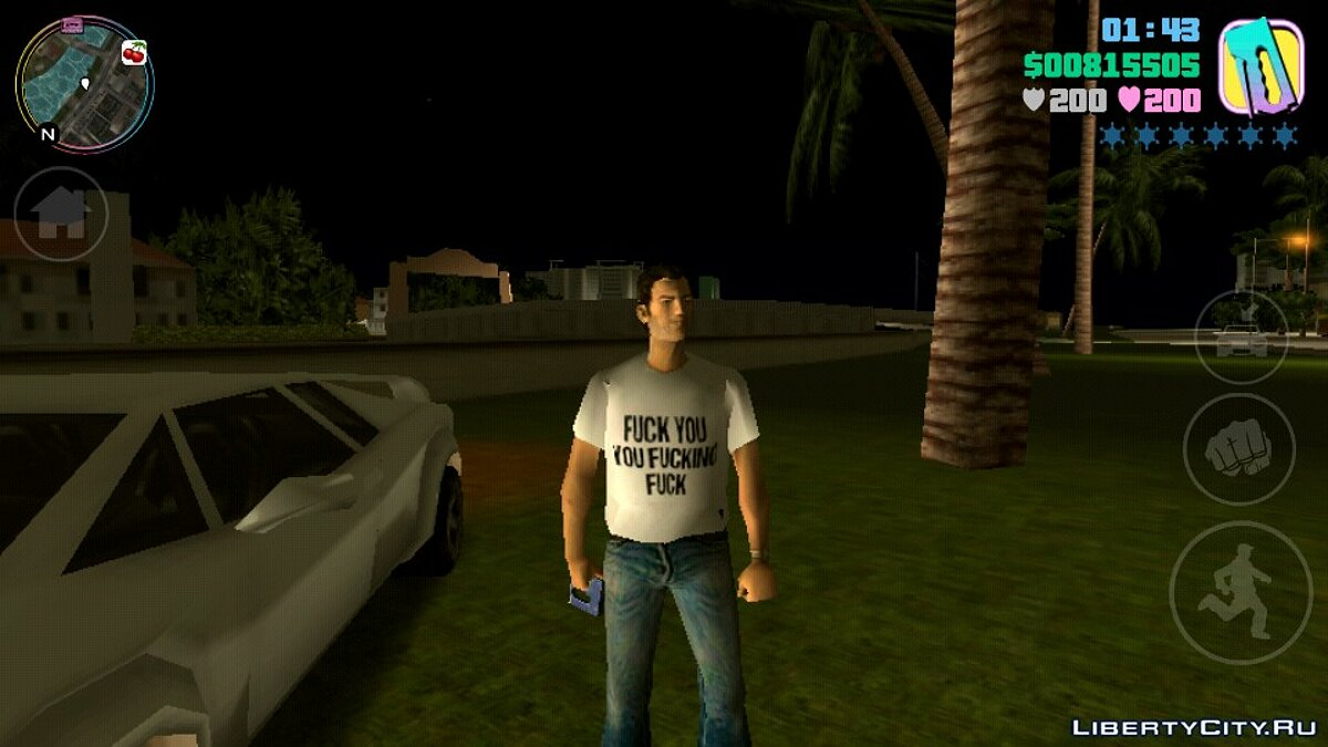 Texture mod New T-shirt for Tommy for GTA Vice City (iOS, Android)