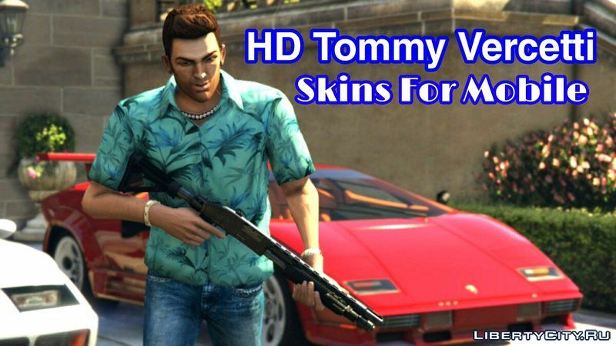 Texture mod Tommy Versetti in HD quality for GTA Vice City (iOS, Android)