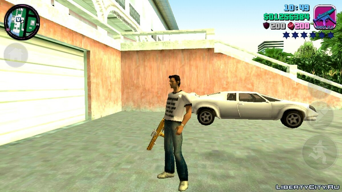 Weapon mod GTA 5 Combat PDW (DFF only) for GTA Vice City (iOS, Android)