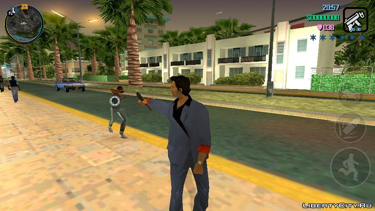 Weapon mod MAC 10 with silencer for GTA Vice City for GTA Vice City (iOS, Android)