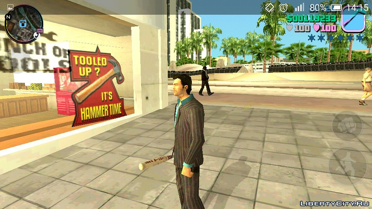 Weapon mod Bit Good Night for GTA Vice City (iOS, Android)