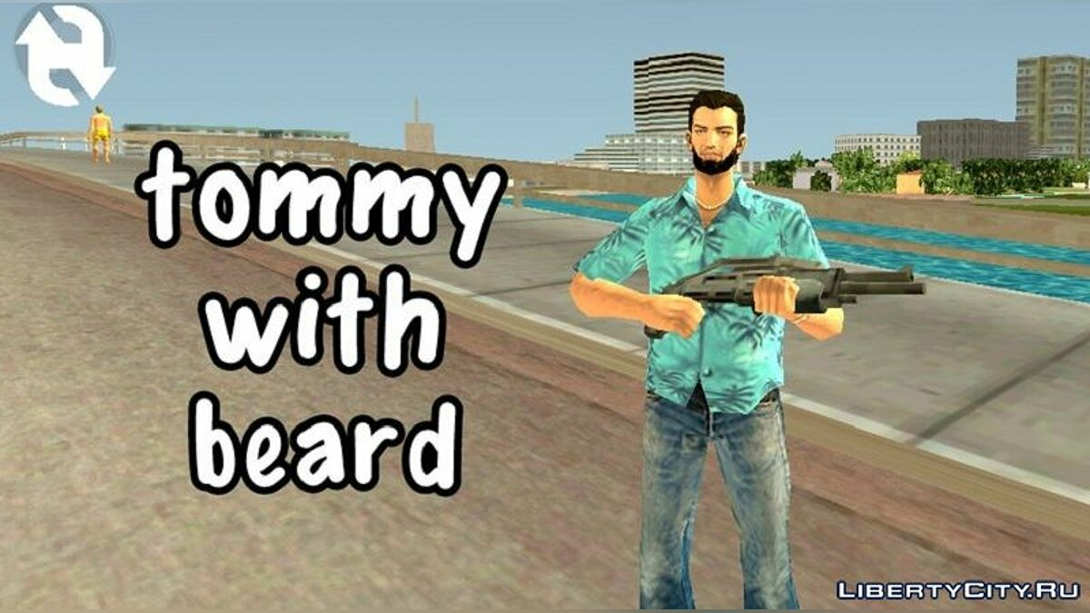 Mod Tommy Vercetti with a beard for GTA Vice City (iOS, Android)