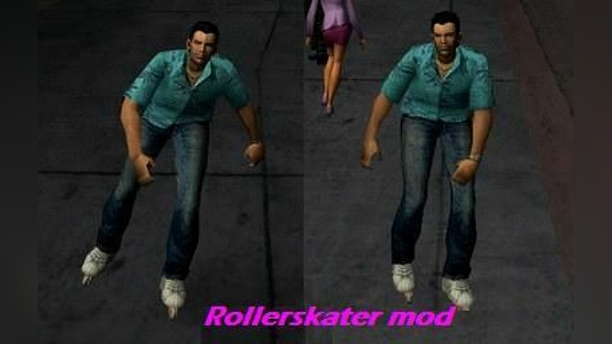 Rollerskater mod for GTA Vice City (iOS, Android)