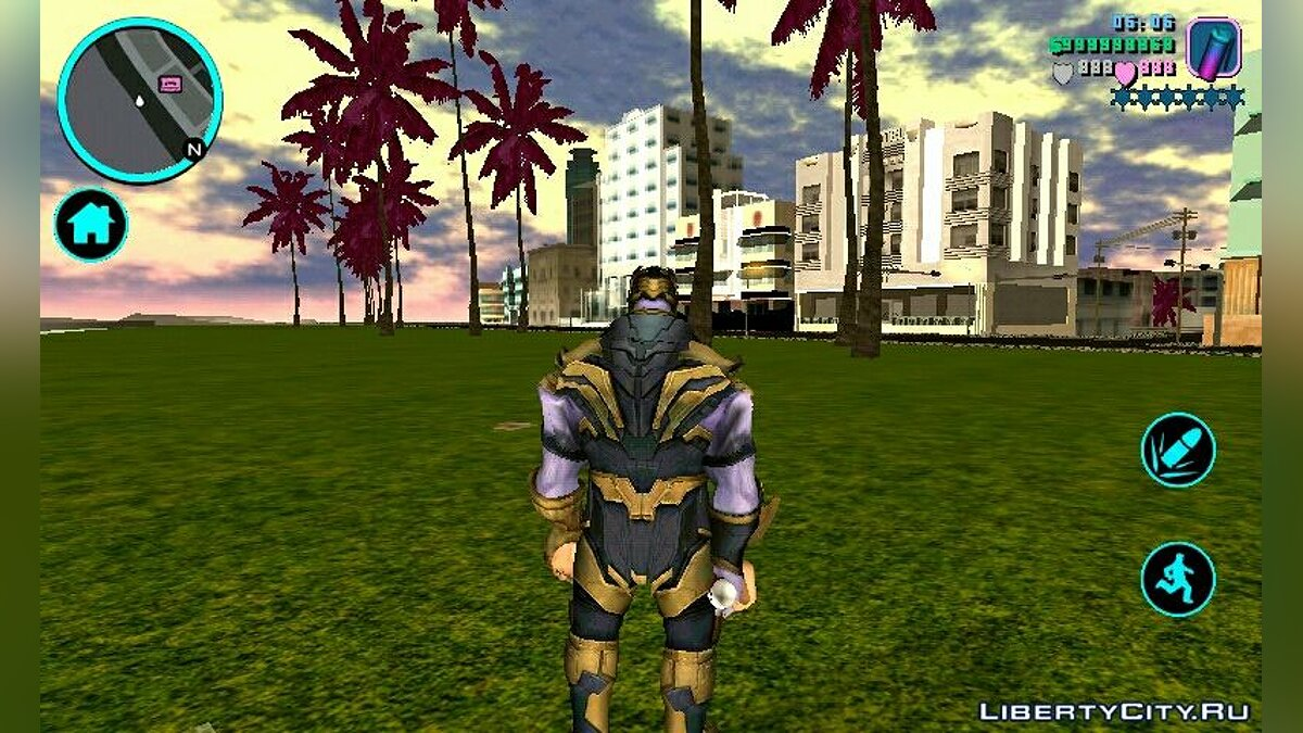 Mod Thanos and the sword of Thanos for GTA Vice City (iOS, Android)