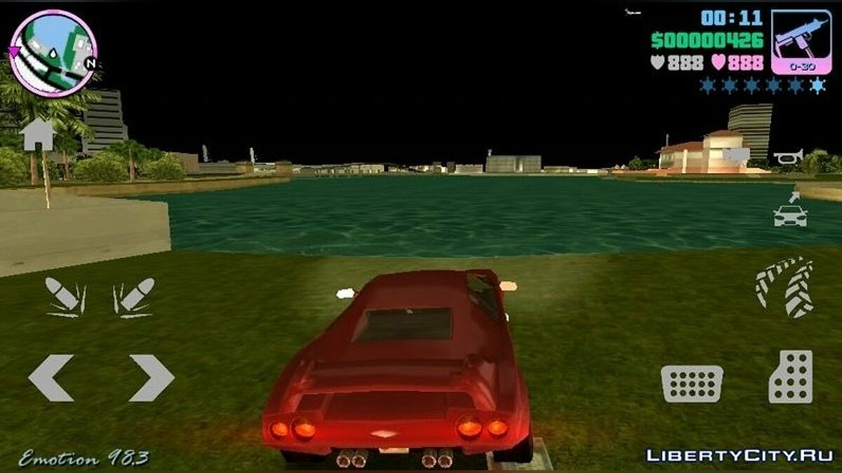 Mod Frameless Buttons for GTA Vice City (iOS, Android)