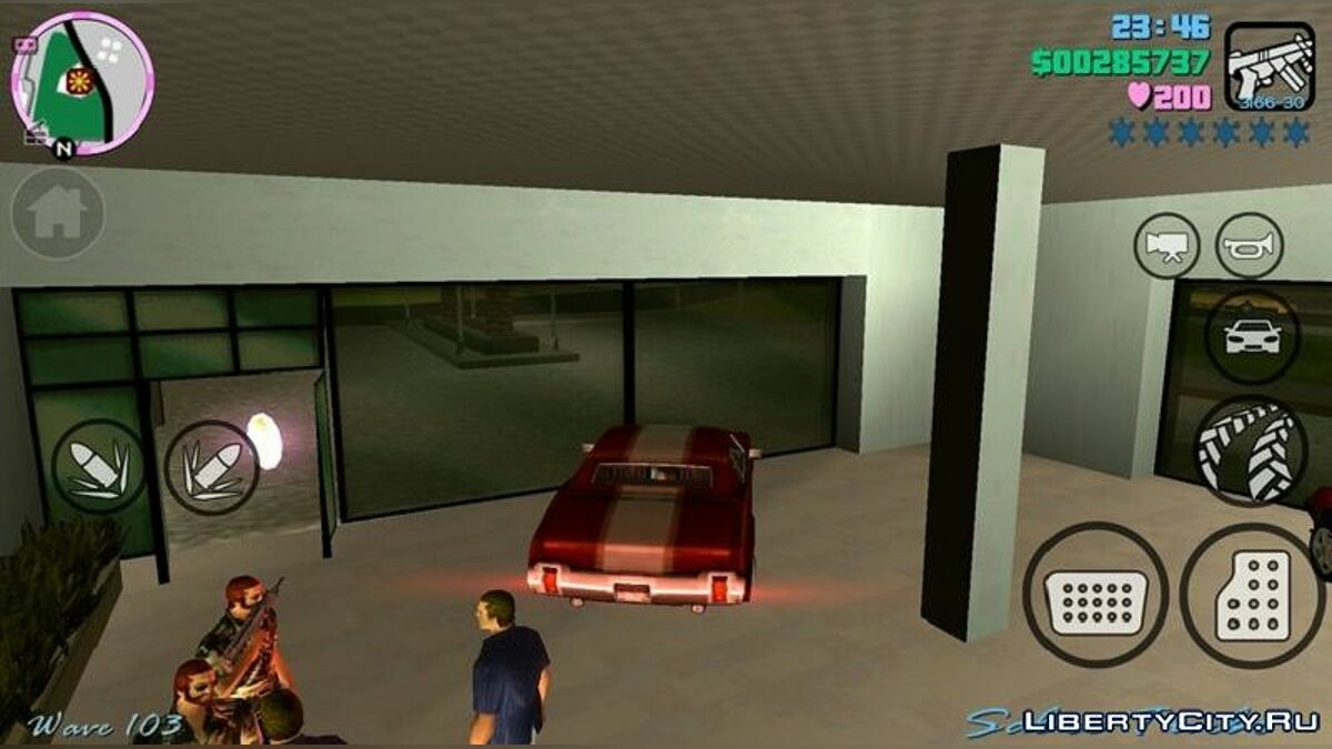 Mod Hood and icons in San Andreas style for GTA Vice City (iOS, Android)