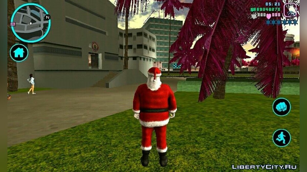 Mod Santa Claus Skin for GTA Vice City (iOS, Android)