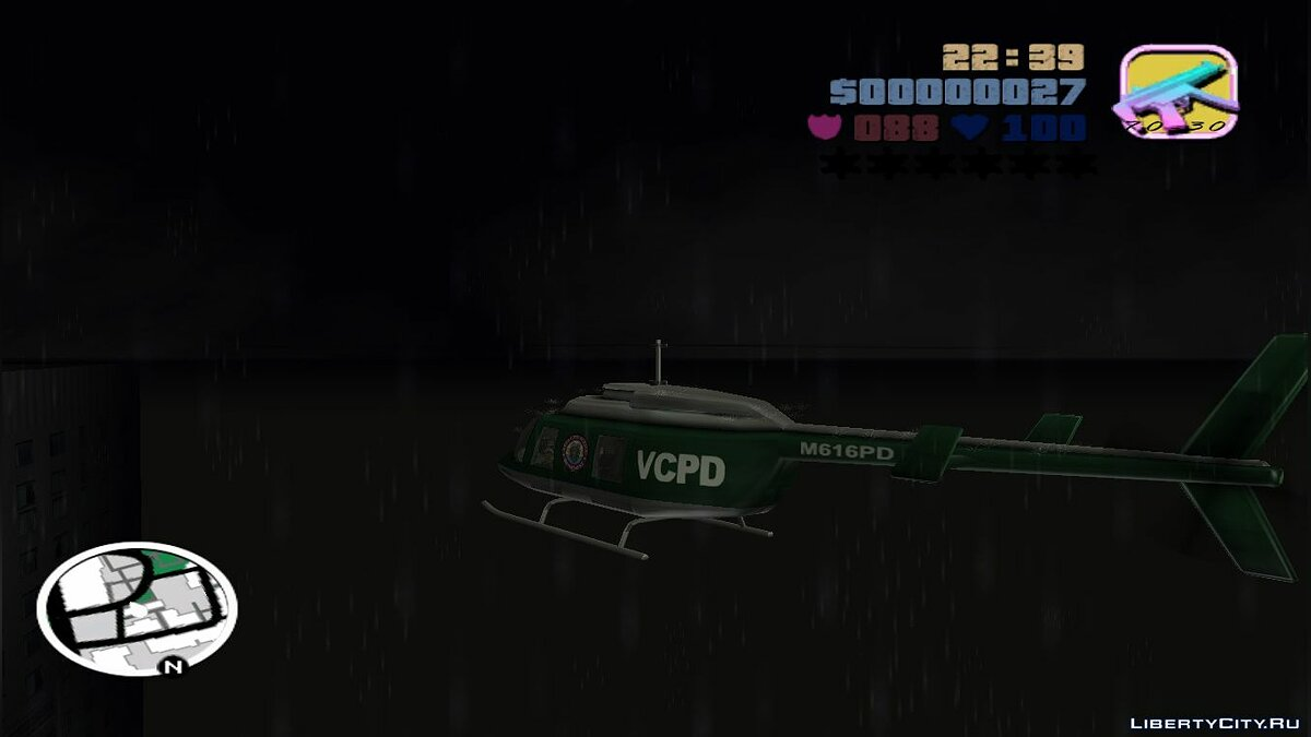 Mod No planes and helicopters (For GTA Long Night) for GTA Vice City