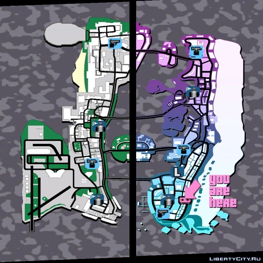 Menu Map 10th Anniversary Style for GTA Vice City