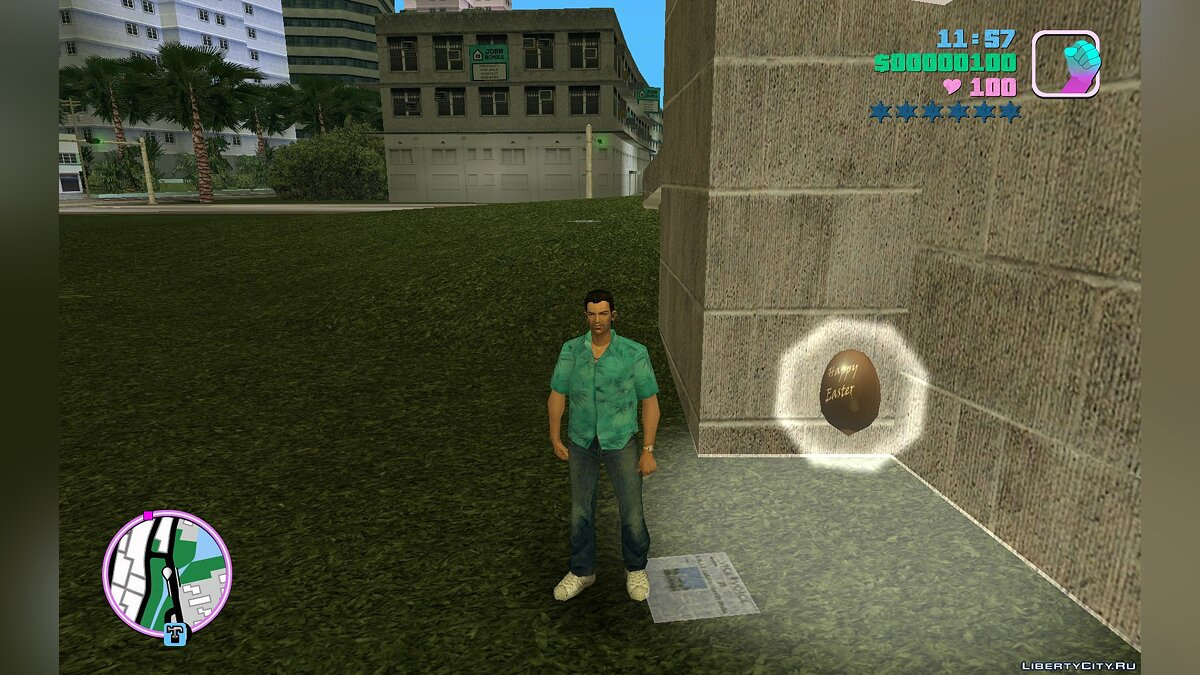 Texture mod Easter mod for GTA Vice City
