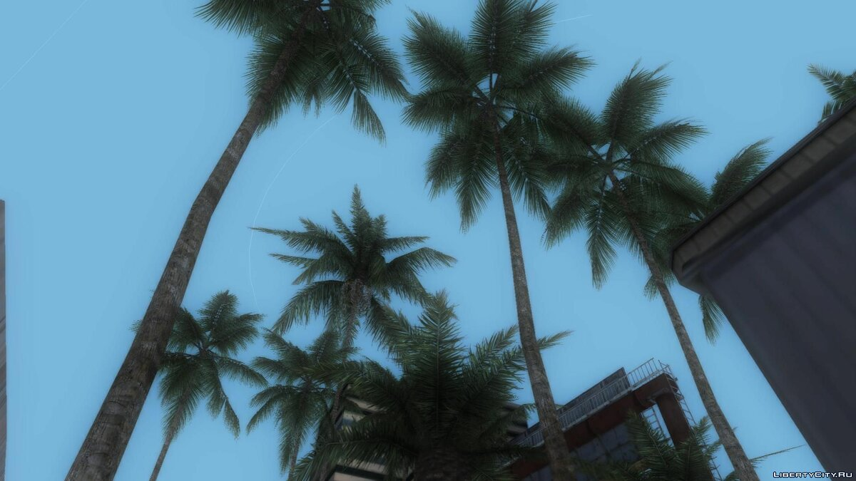 Texture mod 80s True Vegetation Palm Trees - Realistic Palm Trees for GTA Vice City