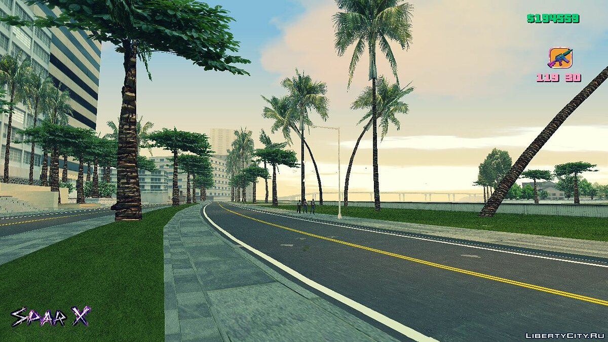Texture mod More realistic vegetation and road 2.0 for GTA Vice City