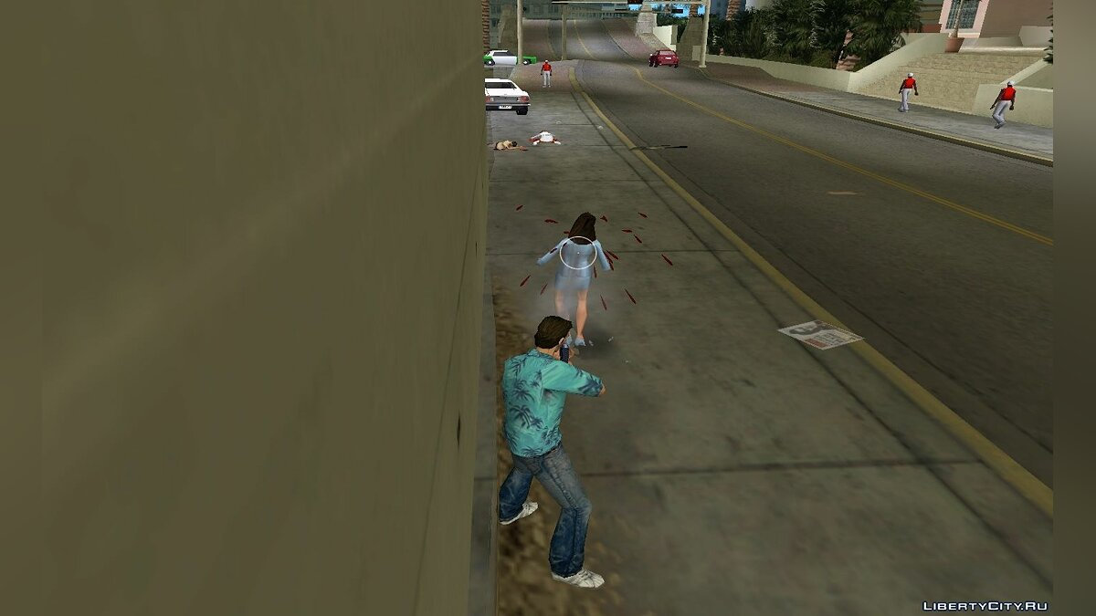 Texture mod New blood effects for GTA Vice City