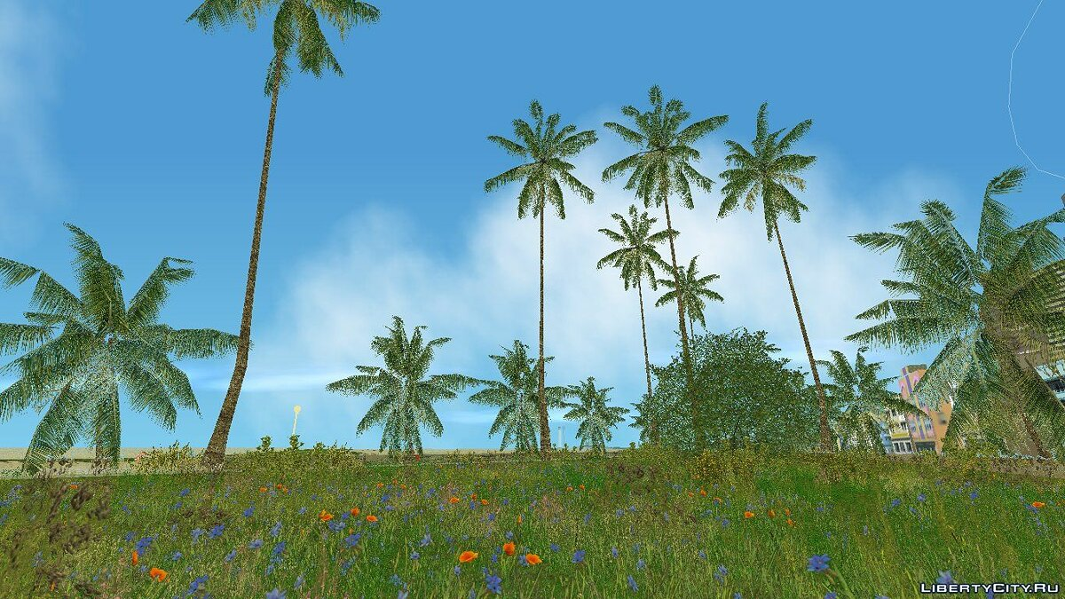 Texture mod Vice Cry Vegetation (Full) for GTA Vice City