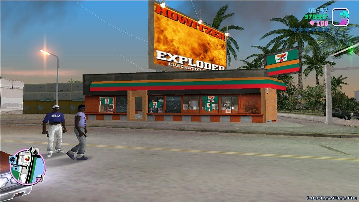 Texture mod 7-Eleven Store for GTA Vice City