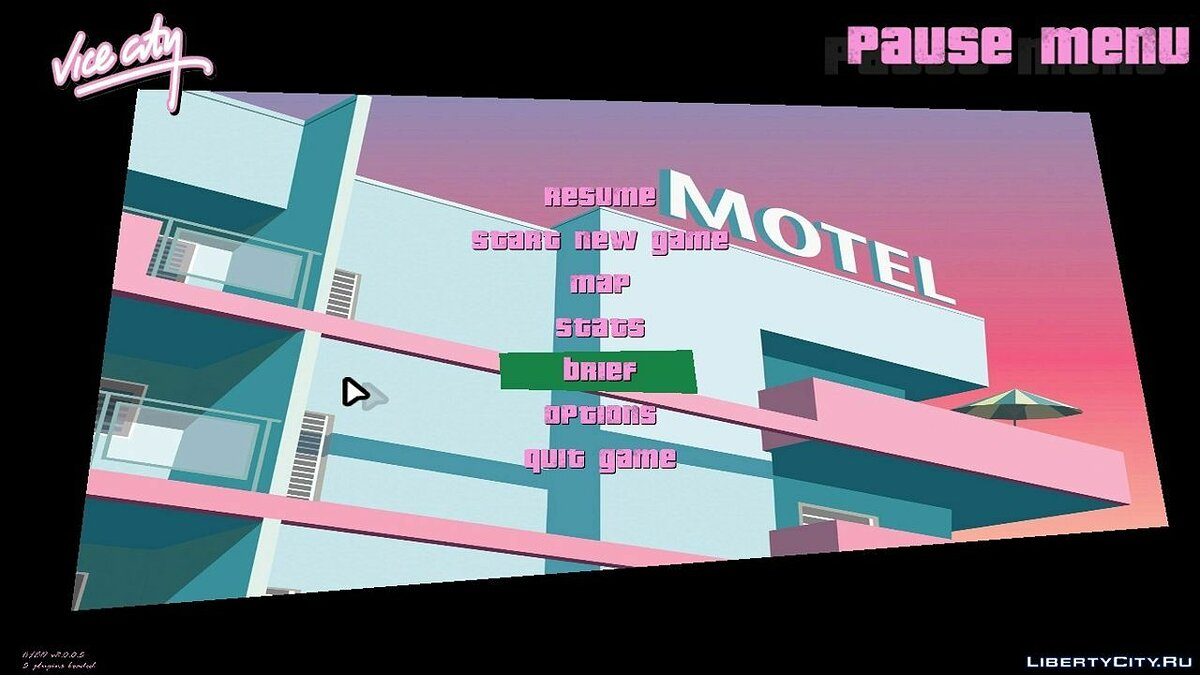 Texture mod New menu (background) for GTA Vice City