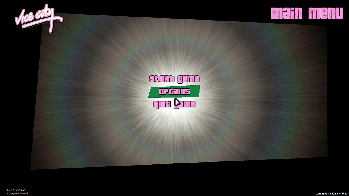 Texture mod Lens Backgrounds v1.0 for GTA Vice City