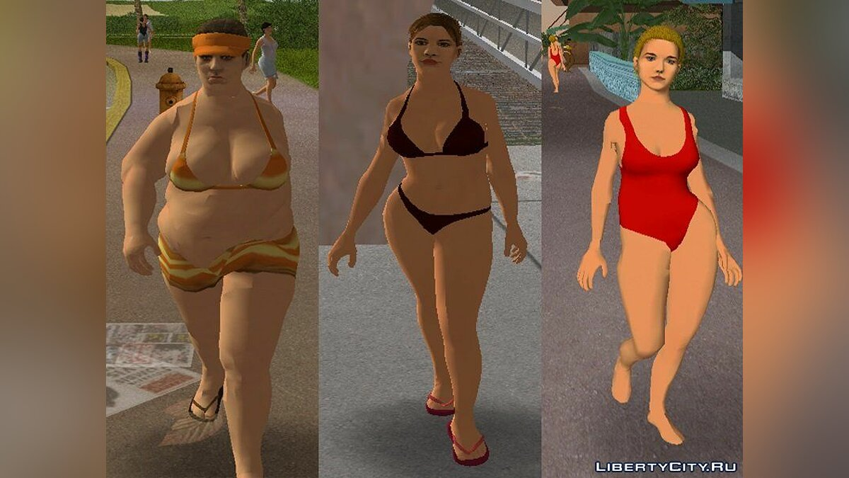 Texture mod Pak white women in HD for GTA Vice City