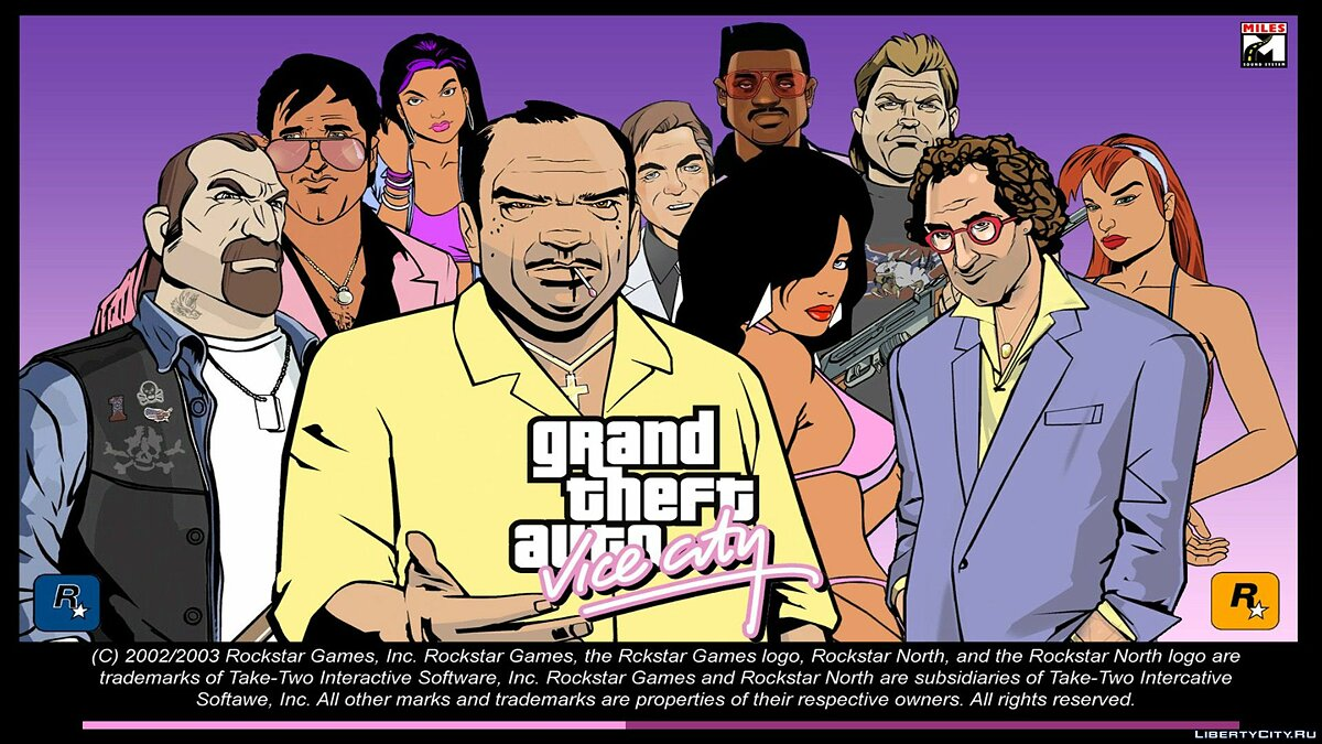 Texture mod GTA3 style boot screen for GTA Vice City