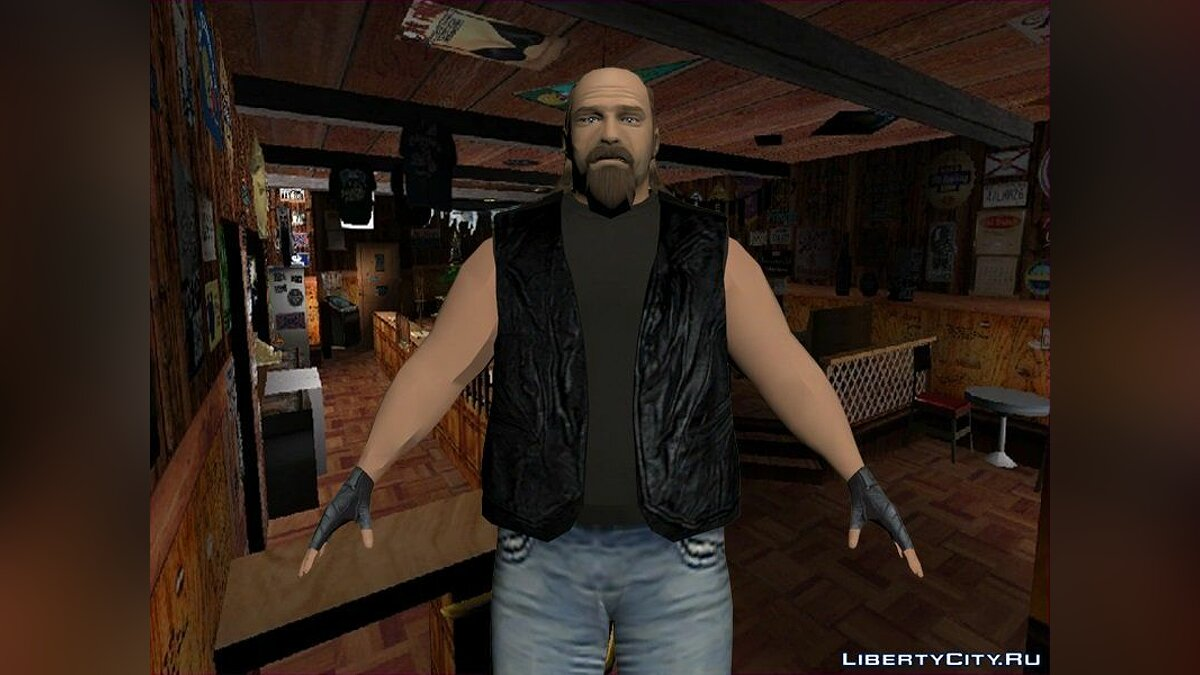 Texture mod Mitch Baker and his friends in HD for GTA Vice City