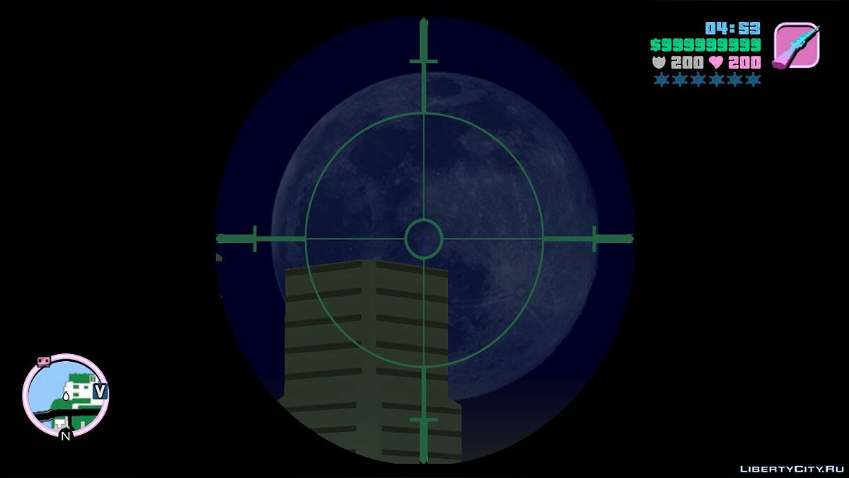 Texture mod Improved mobile sight on sniper rifles for GTA Vice City