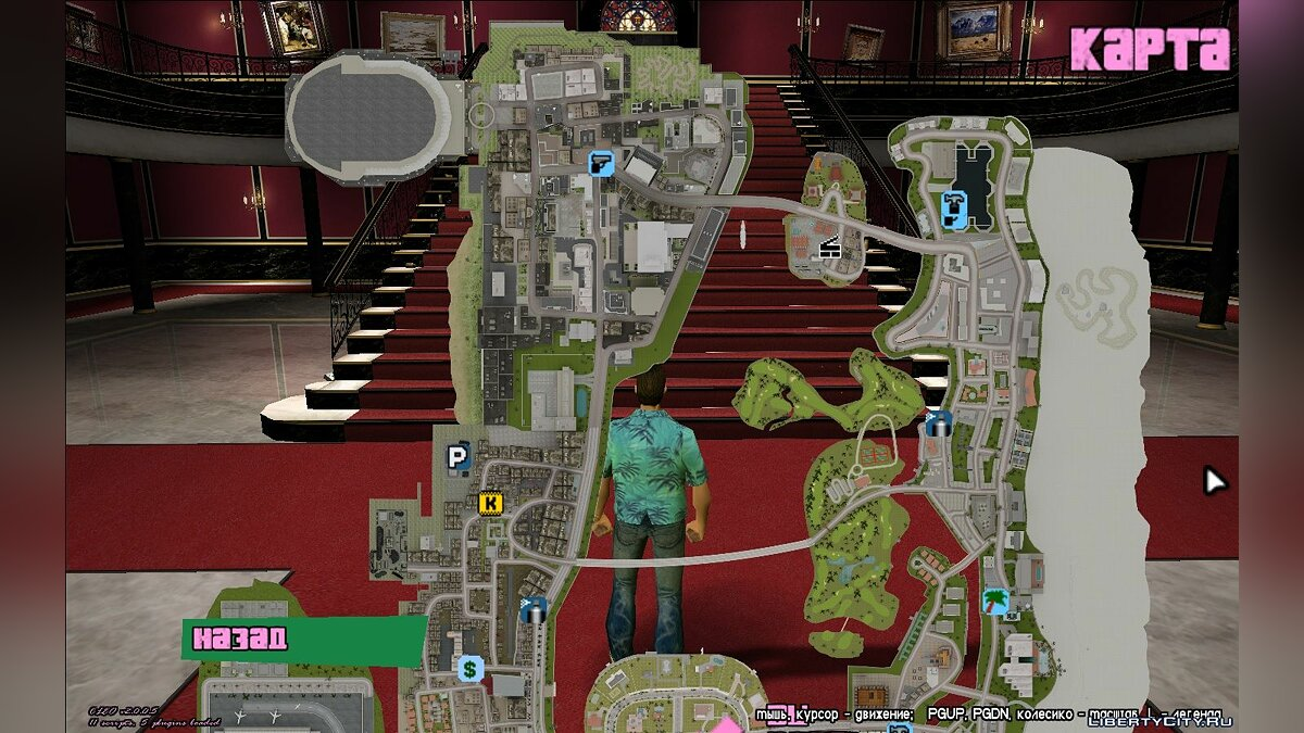 Texture mod Google Maps style map and radar for GTA Vice City