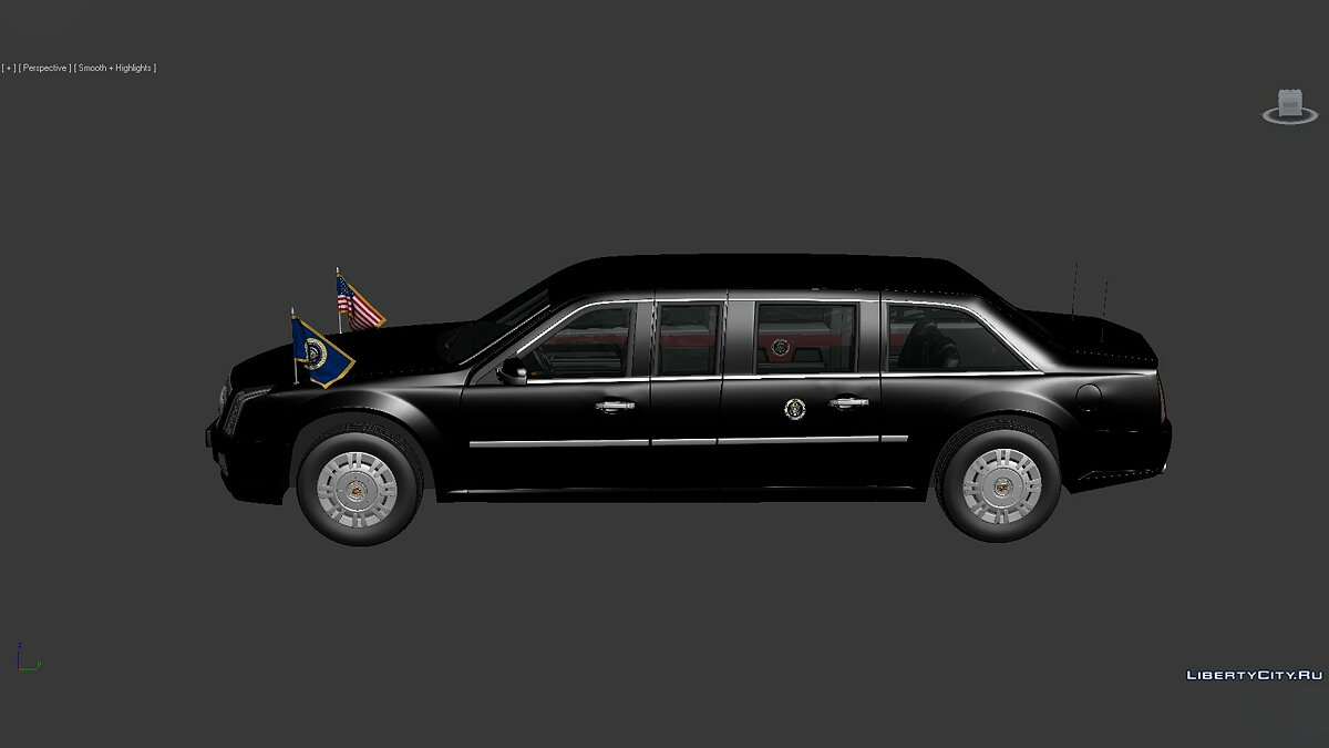 Model 3D Models Cadillac US Presidential State 2017 for for modmakers