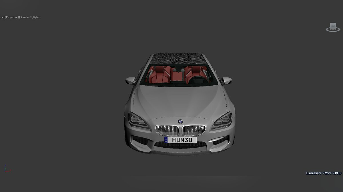 Model 3D Models BMW 6 Series (F06) 2013 for for modmakers