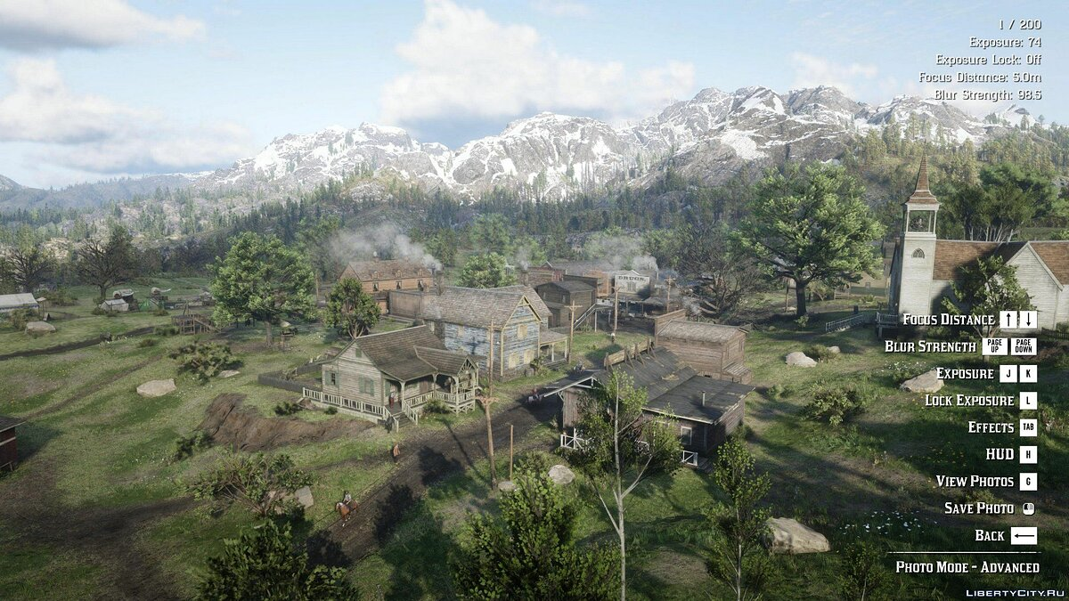 Script mod Advanced Photo Mode for Red Dead Redemption 2