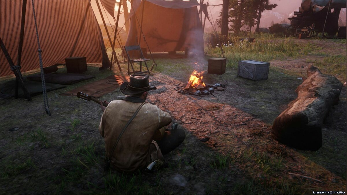Script mod The ability to play the guitar for Red Dead Redemption 2