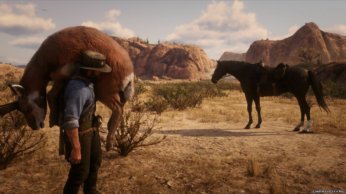 Script mod Unlimited horse whistle distance for Red Dead Redemption 2