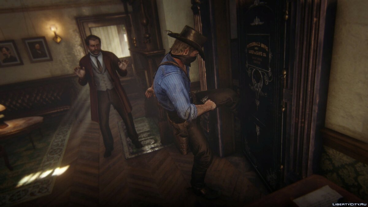 Script mod Bank robbery for Red Dead Redemption 2