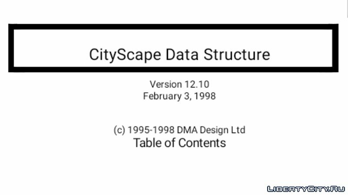 File CityScape Data Structure for for modmakers