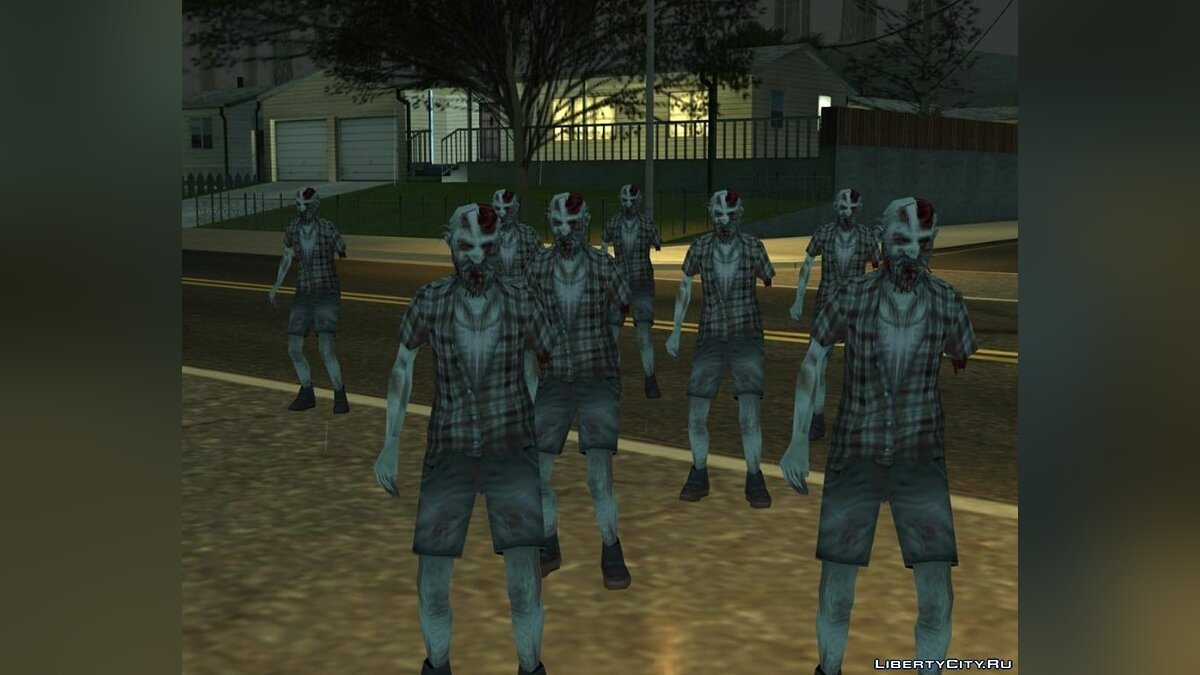 Skin Zombie deed for GTA San Andreas