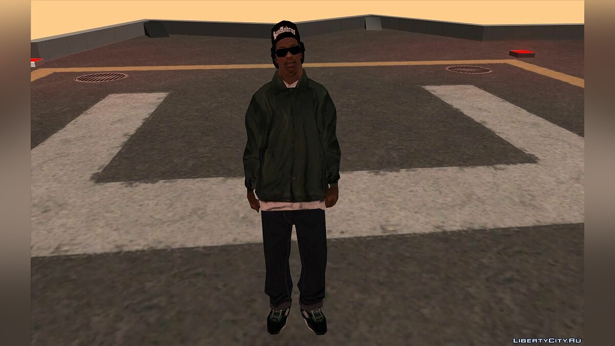 Skin Carl in Ryder's clothes for GTA San Andreas