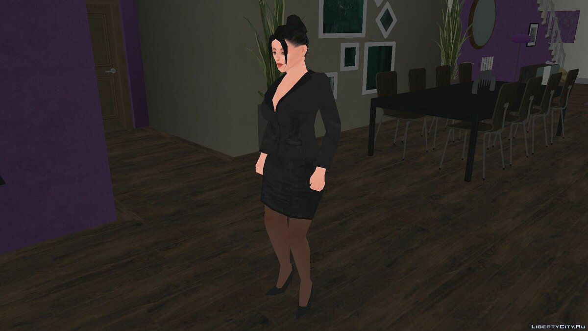 Skin Girl in Office Suit for GTA San Andreas