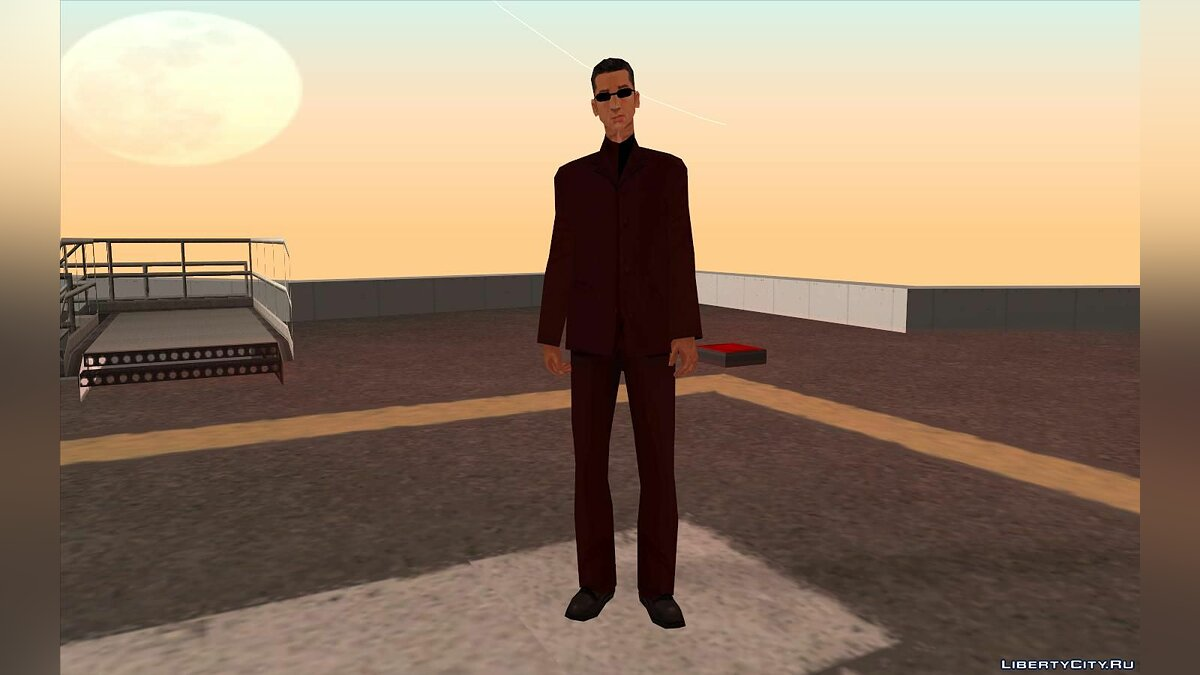 Skin Red suit for Wu Zi Mu for GTA San Andreas