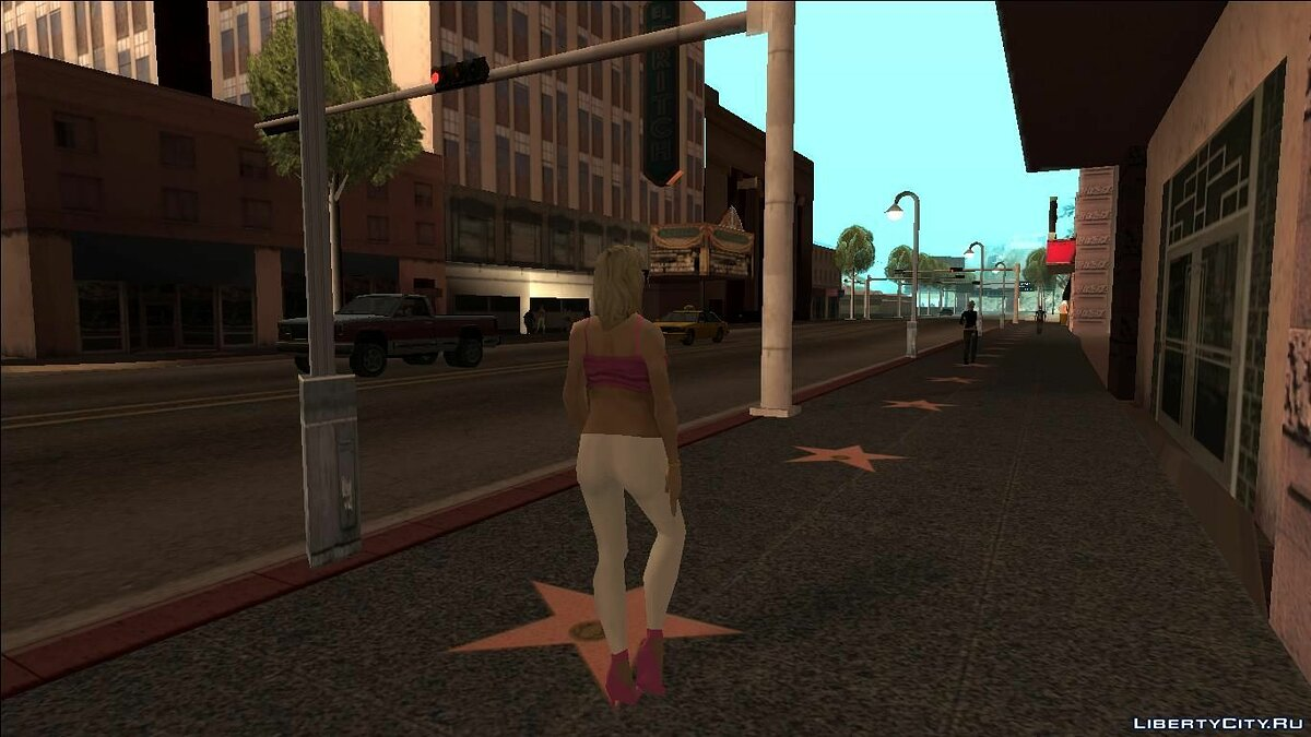 Skin Rochelle - Girl with boot screen (art) for GTA San Andreas