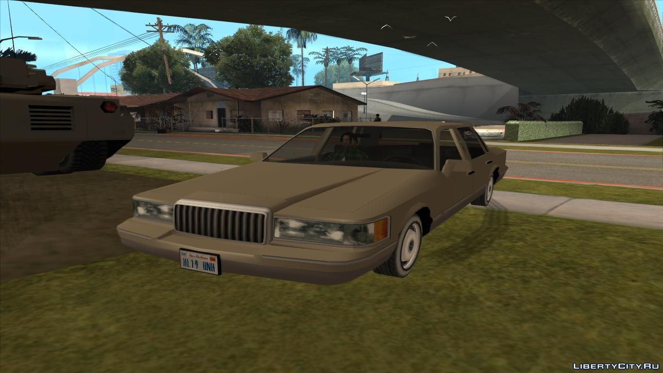 Lincoln Towncar 2017 >> Lincoln Town Car 1992 low poly for GTA San Andreas