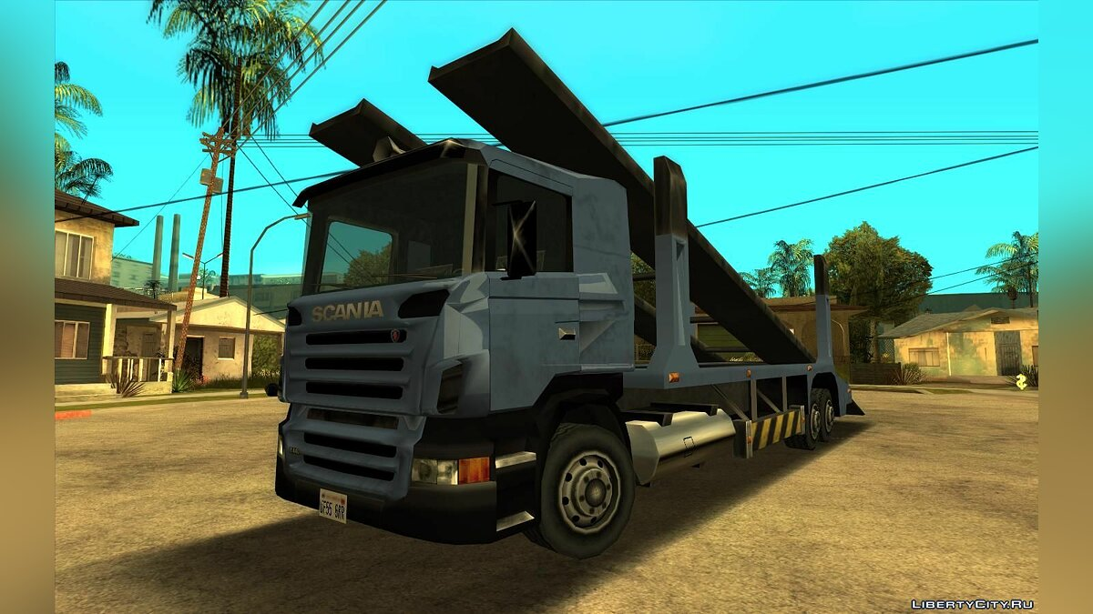Cars Scania R440 Packer (Lowpoly) for GTA San Andreas