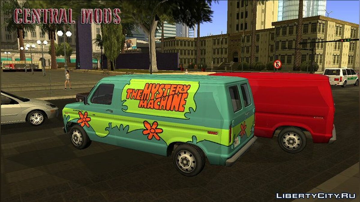 Cars Ford E-150 - Normal/Scooby-Doo - Improved version v2 for GTA San Andreas