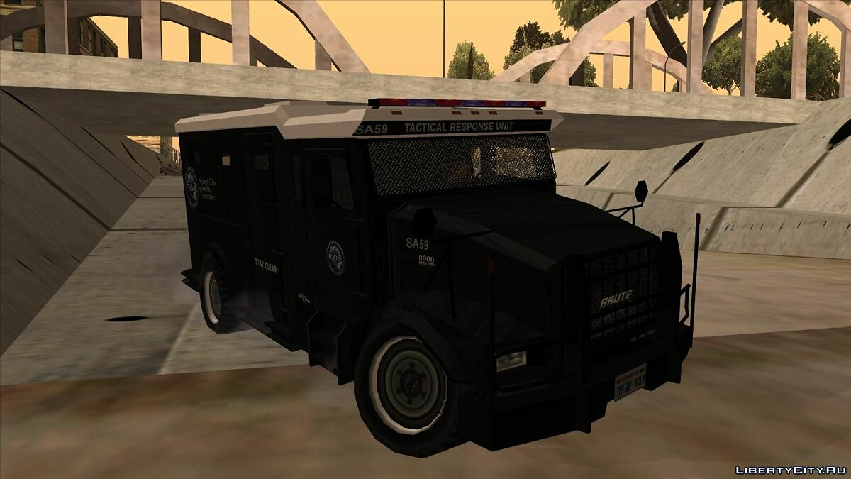 Cars Lowpoly GTA IV Enforcer for GTA San Andreas